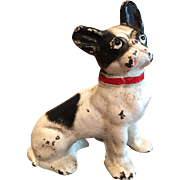 Vintage Hubley French Bulldog Paperweight - Cast Iron - Great Paint