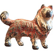 Vintage Metal Cast Iron Hubley Collie Dog Dog Party Favor Figurine