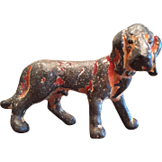 Vintage Metal Cast Iron Hubley Bloodhound Hound Dog Party Favor Figurine