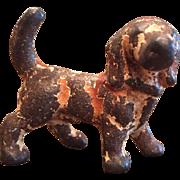 Vintage Metal Cast Iron Hubley Hound Dog Party Favor Figurine