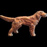 Vintage Cast Iron Irish Setter Dog Party Favor Figurine Hubley?