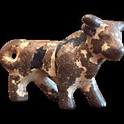 Vintage Cast Iron Cow Party Favor Figurine Hubley?