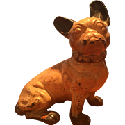 French Bulldog Hubley or National Foundry Cast Iron Doorstop Original Paint