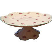 "Shelley Pedestal Cake Stand / Compote  Rosebud Dainty Shape 8"" Diameter"