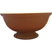 Huge !9th Century White Ironstone Punch Bowl Great Shape