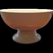 White Ironstone Pedestal Punch Bowl American E.P.P.Co