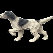 Antique Cast Iron Hubley English Setter / Pointer Bird Dog Paperweight