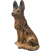 Hubley Cast Iron German Shepherd Dog Paperweight #2