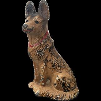 Hubley Cast Iron German Shepherd Dog Paperweight #2