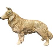 Hubley Collie Dog Cast Iron Paperweight
