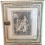 Victorian Schepp's Cake Tin Box - Great Graphics - 1901-1928