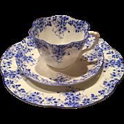 Shelley England Fine Bone China Dainty Blue Cup Saucer Trio Set 051/28