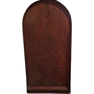 Very Early Wood Bagatelle / Pinball Game Large Game Board