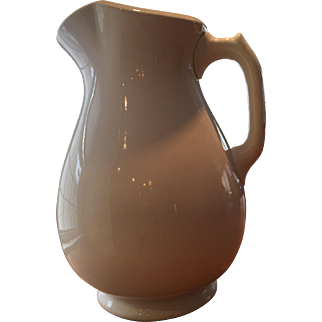White Ironstone Table Pitcher / Jug Knowles Taylor Knowles USA Interesting Shape