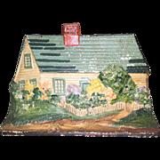 Eastern Specialties Large House / Cottage Cast Iron Doorstop / Door Stop Original Paint
