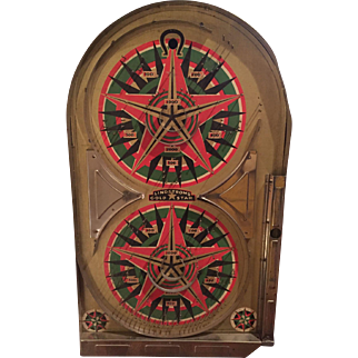"""1933 Lindstrom """" Gold Star"""" Bagatelle / Pinball Great Graphics"""