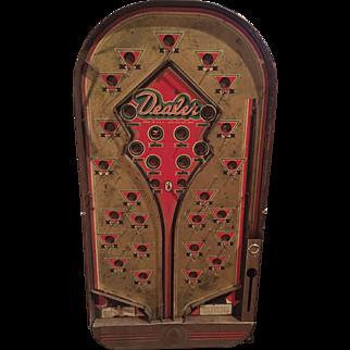 1935-40 DEALER Bagatelle / Pinball Game Joseph Schneider NY Great Graphics