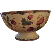 Wedgwood Water Nymph Pedestal Punch Bowl Polychrome Transferware 12""