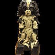 Judd Japanese Spaniel Dog Japanese Chin Cast Iron Figural Doorstop 1267