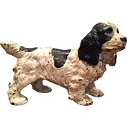 Original  HUBLEY Cast Iron COCKER SPANIEL Dog Doorstop Door Stop