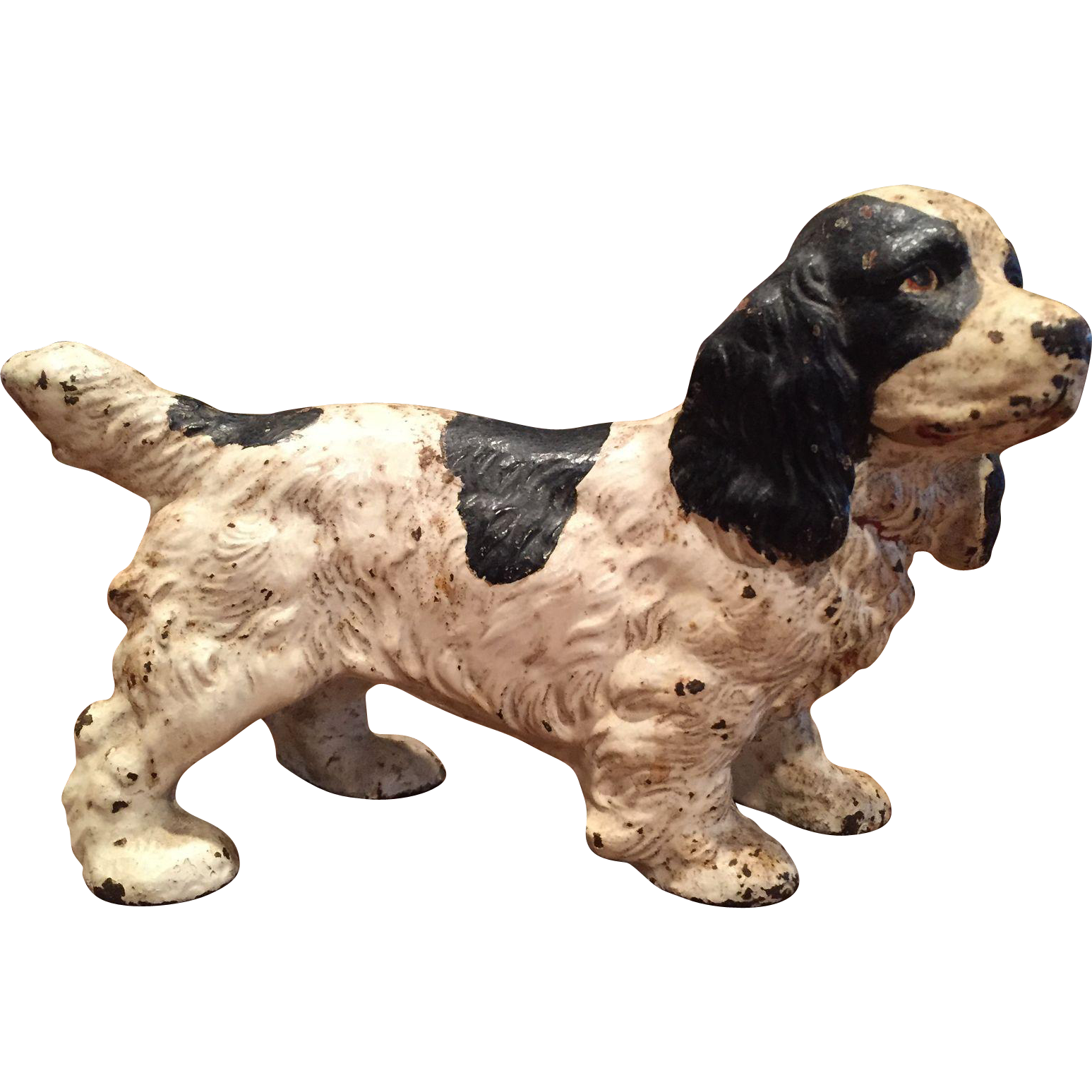 Original hubley cast iron cocker spaniel dog doorstop door stop from yourgrandmahadit on ruby lane - Cast iron dog doorstop ...