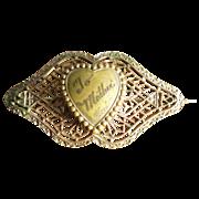 Vintage 1930's Filigree Mother Pin