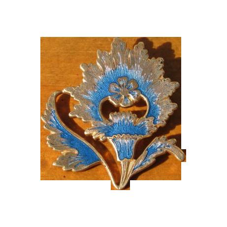 Vintage Metropolitan Museum of Art Enamel Flower Brooch Pendant