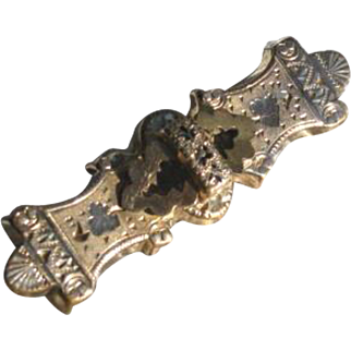 Etched Victorian Bar Pin