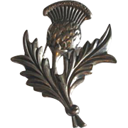Vintage Danecraft Sterling Silver Thistle Flower Brooch