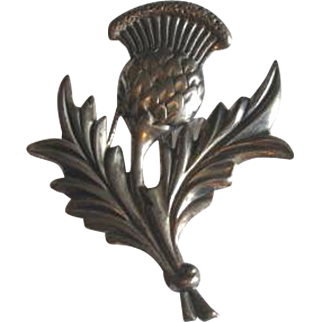 Vintage Danecraft Sterling Silver Thistle Flower Brooch