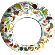 Vintage Copper and Enamel Open Circle Pin