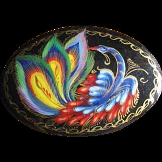 Vintage Firebird Russian Folk Art Pin
