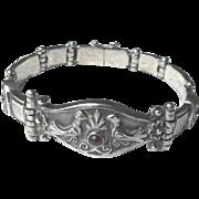 Vintage Sterling Silver Dove Bracelet