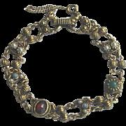 Vintage 1960's Beaded Link Boho Bracelet