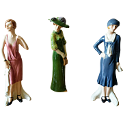 Vintage Goebel Fashions on Parade Figurines - Set of 3