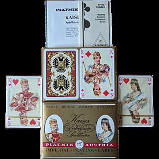 Vintage Piatnik Kaiser Jubilaum Imperial Playing Cards Double Deck Sealed