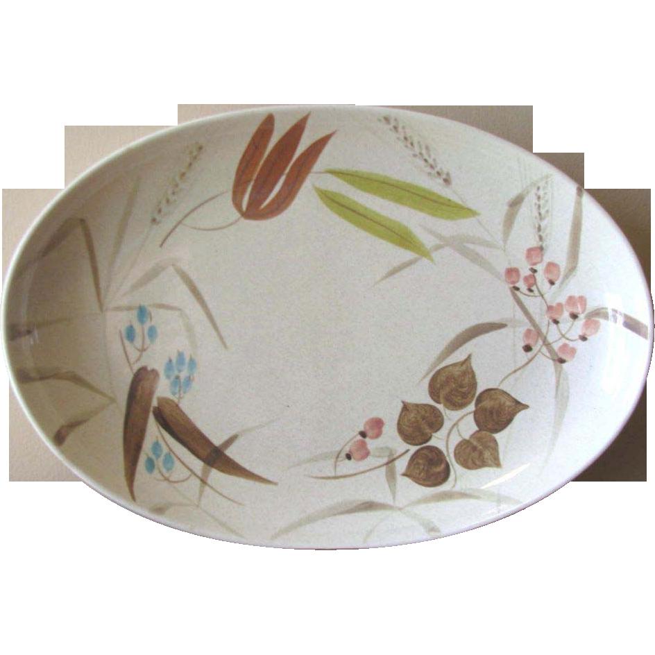 Vintage Redwing Pottery Random Harvest Serving Platter From Whimsicalvintage On Ruby Lane