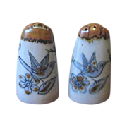 Vintage Ken Edwards El Palomar Bird and Butterfly Salt & Pepper Shakers