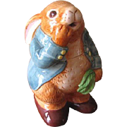 Vintage 1980's Peter Rabbit Cookie Jar