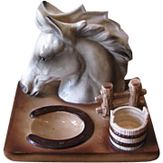 Vintage 1960's Ceramic Horse Desk Caddy Organizer