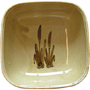 Vintage Ceramic Deep Square Serving Bowl - Cattails - Galleon Ware - Canada
