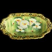 Art Nouveau I.E. and C. Company Floral Moriage Celery or Relish Dish - Japan