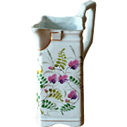 Vintage Porcelain Creamer Pitcher with Flowers and Ferns