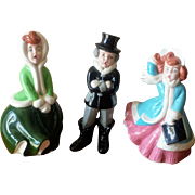 Vintage 1970's Ceramic Christmas Carolers Atlantic Mold - Set of 3