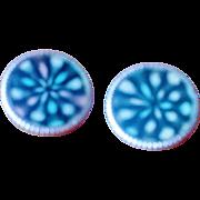 Vintage 1960's Psychedelic Kaleidoscope Earrings
