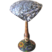 Vintage 1940's Frances and Walter Nelkin Gray Sequin Hat
