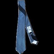 Vintage 1960's Gray and Black Silk Men's Skinny Tie from George of Brooklyn