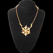 Vintage 1940s Goldtone Bow Choker Necklace