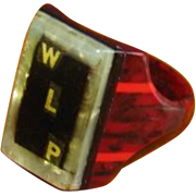 Vintage 1930's Handmade Celluloid Men's Prison Ring