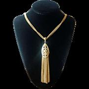 Vintage 1970's Monet Long Tassel Necklace